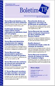 Boletim TR nº 1/2015