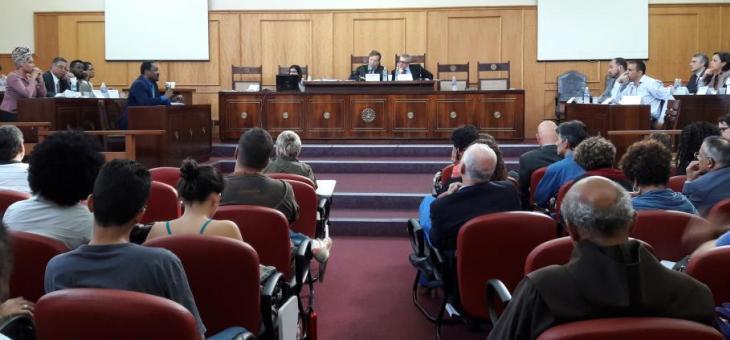 Primeira parte da audiência foi realizada no Salão Nobre da Faculdade de Direito da UFF