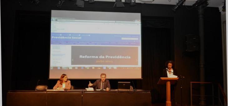 A diretora do Foro da SJRJ, Juíza Federal  Helena Elias Pinto e o Juiz Federal  Vladimir Vitovsky participaram da abertura do evento