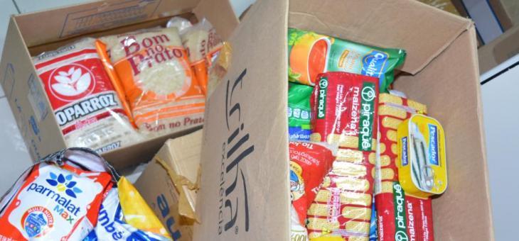 Alimentos doados aos servidores estaduais