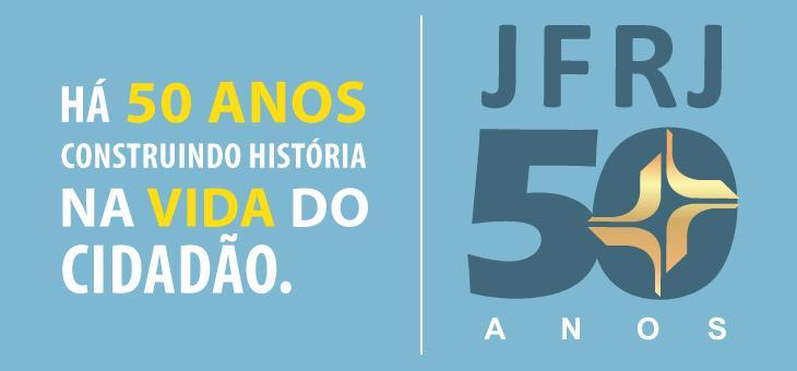 Logomarca comemorativa dos 50 anos da justiça federal