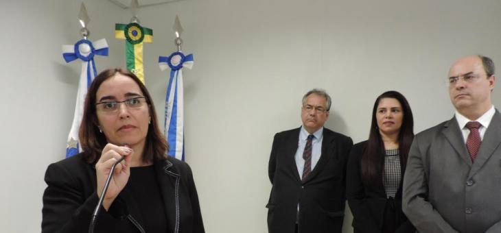 Diretora do Foro da SJRJ discursa na inauguração da nova sede da Justiça Federal em Itaperuna