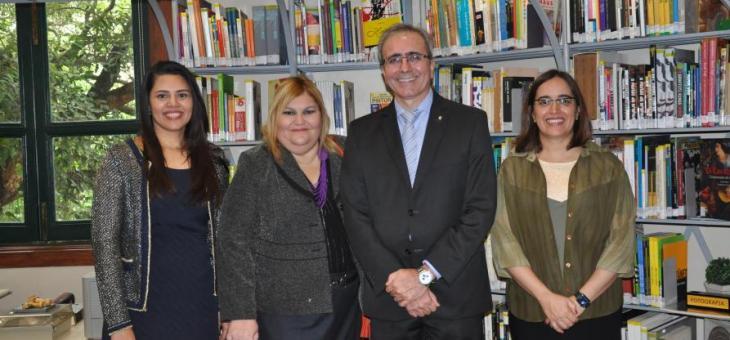 Os magistrados federais Cristiane Chmatalik (diretora do Foro da JFES), Sandra Meirim Chalu Barbosa, Ricarlos Almagro e Helena Elias Pinto (diretora do Foro da JFRJ) em evento no CCJF