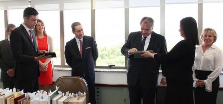 André Fontes e Thompson Flores assinaram termo eletronicamente por meio do SEI