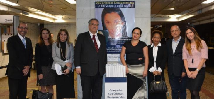 TRF2 cria espaço para divulgação do SOS Crianças Desaparecidas