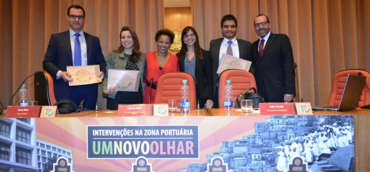 Palestrantes Jaime Mitropoulos, Jane Reis, Adriana Cruz, Letícia Mello, Julio Araujo e Osair Victor