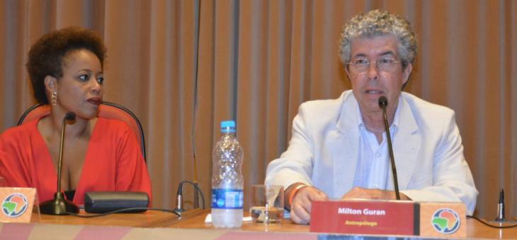 Juíza federal Adriana Cruz e o antropólogo Milton Guran