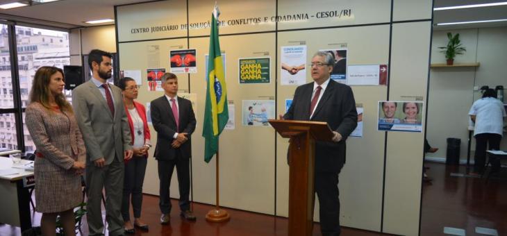 Presidente do TRF2, desembargador federal André Fontes, fala sobre a importância da conciliação