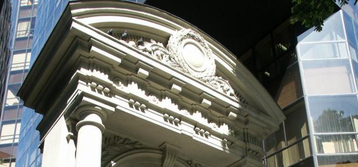 Detalhe da fachada Fórum da Av. Rio Branco