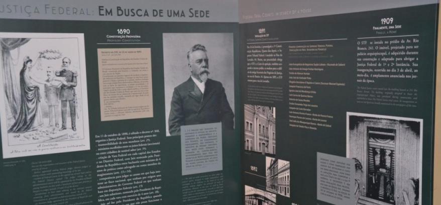 """Exposição """"Rio Branco, 241 – Justiça e Cultura"""""""