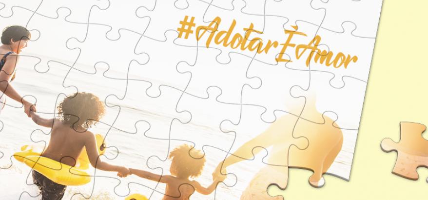 Imagem da campanha #AdotarÉAmor