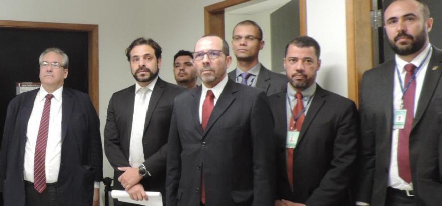 Presidente André Fontes, juízes federais Rodrigo Botelho e Osair Victor, diretores de subsecretaria André Kemper, João Paulo de Souza e Victor Laccarino.