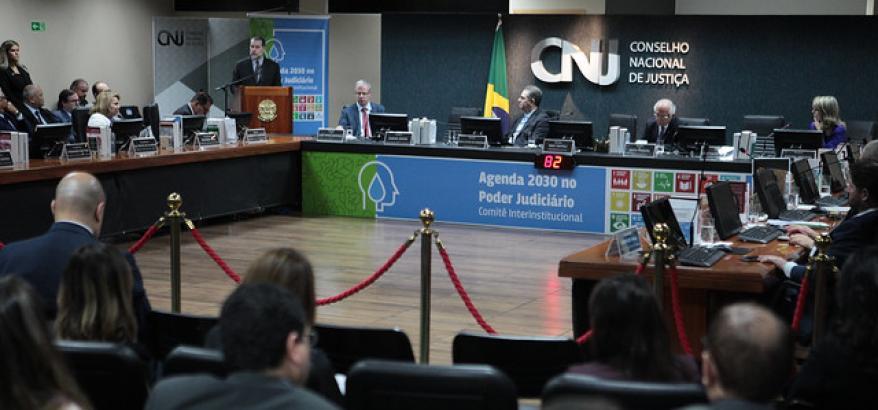 Apresentação do relatório de integração das metas do Poder Judiciário e Indicadores dos ODS. Foto: Gil Ferreira/Agência CNJ