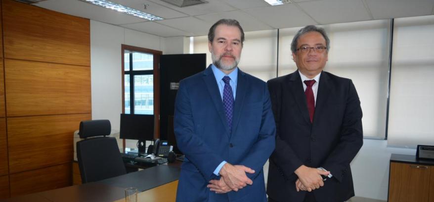 Ministro Dias Toffoli e Desembargador Federal Luiz Paulo Silva Araújo Filho