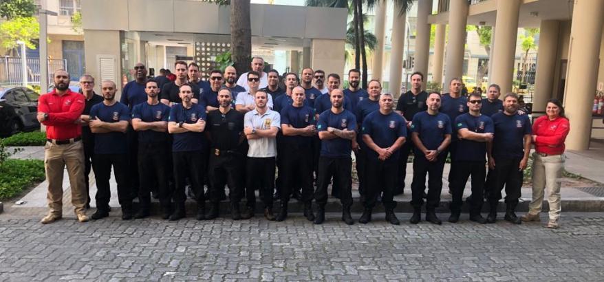 Agentes de Segurança no Fórum da Av. Venezuela