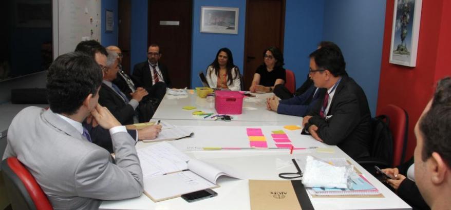A reunião dos diretores de foro também foi realizada no Laboratório de Inovação da Seção Judiciária.