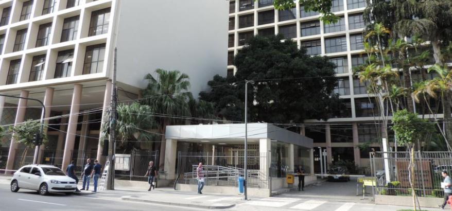 """Fachada do Foro Marilena Franco, onde será realizado o evento  """"Aspectos Jurídicos da Proposta de Reforma da Previdência"""""""