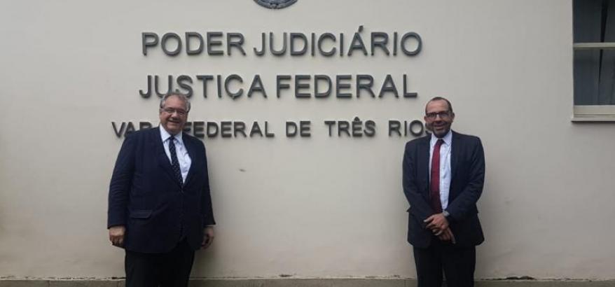 André Fontes e Osair Victor visitam a Subseção Judiciária de Três Rios