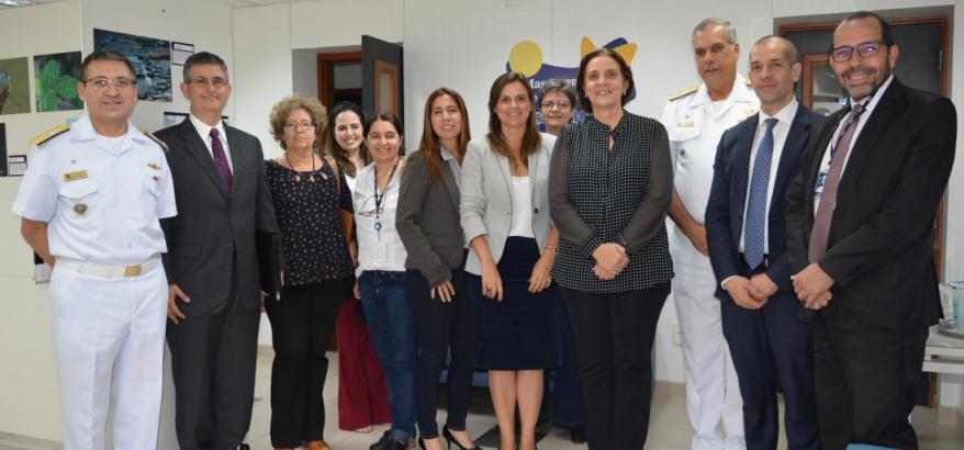Autoridades se reuniram no Laboratório de Inovação da Sede Administrativa para debater poluição marinha