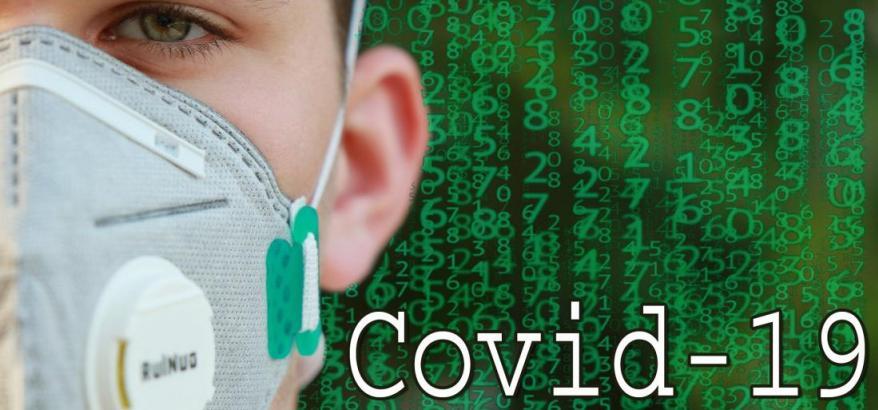 Paciente com máscara Covid-19