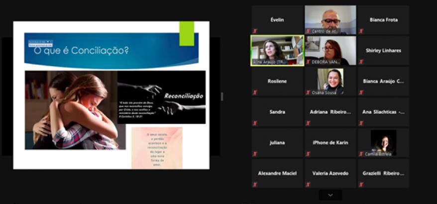 print de tela de computador da Palestra de Aline Miranda no Interfaces Cidadãs de Maricá