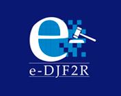 Logo e-DJF2R (fundo azul)