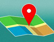 Ilustração tipo mapa Google
