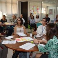 Servidores durante a Oficina de Design Thinking, promovida em maio na Sede Administrativa