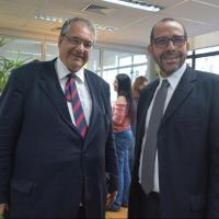 Dr. André Fontes e dr. Osair Victor prestigiam a inauguração do espaço