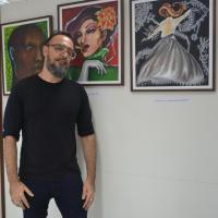 Obras do servidor e artista plástico Júlio Probo inauguram espaço