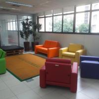 Sala de convivência, com design colorido e multiuso, integra complexo instalado no 3º andar da Sede Administrativa
