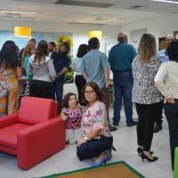 Servidores visitam as instalações da Sala de Convivência